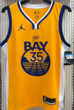 2021 Warriors Jordan DURANT #35 Golden NBA Jerseys Hot Pressed