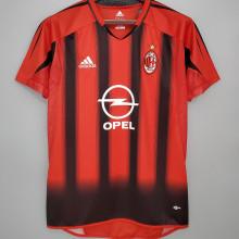 2004/2005 AC Milan Home Retro Soccer Jersey