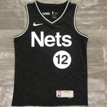 2021 Nets HARRIS #12 EARNED Edition Black NBA Jerseys Hot Pressed