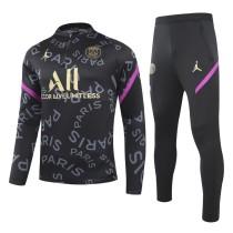 2020/21 PSG JD Black Sweater Tracksuit