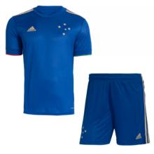 2021/22 Cruzeiro 100 ANOS Blue Kids Soccer Jersey