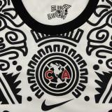 2021 Club America White Black Third Fans Soccer Jersey