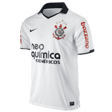 2011 Corinthians Home White Retro Soccer Jersey