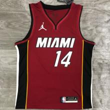 2021 Miami Heat Jordan HERRO #14 Jujube NBA Jerseys Hot Pressed