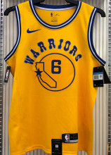 Warriors YOUNG #6 Yellow Socks NBA Jerseys Hot Pressed