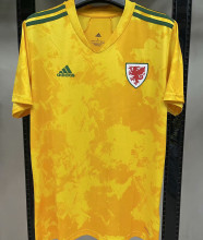 2020/21 Euro Wales 1:1 Quality Away Yellow Fans Soccer Jersey