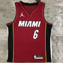 2021 Miami Heat Jordan JAMES #6 Jujube NBA Jerseys Hot Pressed