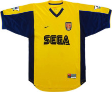 2000 ARS Away Yellow Retro Soccer Jersey