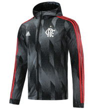2021 Flamengo Black Windbreaker