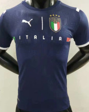 2021/22 Italy GK Blue Player Version Soccer Jersey