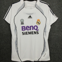 2006-2007 RM White Home Retro Soccer Jersey