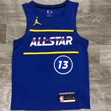 2021 ALL STAR HARDEN # 13 JD Blue NBA Jerseys Hot Pressed