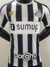 2021/22 Santos Black And White Player Soccer Jersey