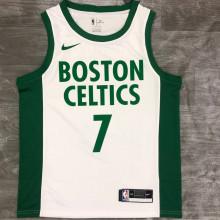 2021 Celtics BROWN #7 White NBA Jerseys Hot Pressed