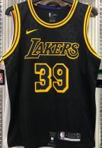 LA Lakers HOWARD #39 Black Snake NBA Jerseys Hot Pressed