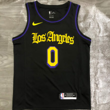 2021 LA Lakers YOUNG #0 Black Latin Black NBA Jerseys Hot Pressed