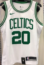 Celtics ALLEN #20 White NBA Jerseys Hot Pressed