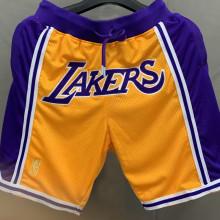 LA Lakers Yellow Purple NBA Pants Embroidery刺绣