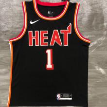 Miami Heat BOSH # 1 Black NBA Jerseys Hot Pressed