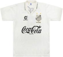 1993 Santos Home White Retro Soccer Jersey
