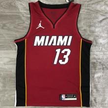 2021 Miami Heat Jordan ADEBAYO #13 Jujube NBA Jerseys Hot Pressed