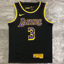 2021 LA Lakers DAVIS  # 3 EARNED Edition Black NBA Jerseys Hot Pressed