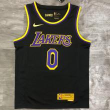 2021 LA Lakers KUZMA  # 0 EARNED Edition Black NBA Jerseys Hot Pressed