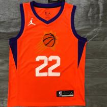 2021 Suns AYTON #22 Jordan Orange NBA Jerseys Hot Pressed