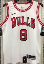 Bulls LAVINE #8 White NBA Jerseys Hot Pressed