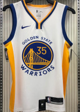 2021 Warriors DURANT #35 V-Neck White NBA Jerseys Hot Pressed