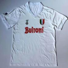 1987-88 Napoli Away White Retro Soccer Jersey