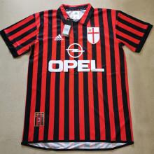 1999/2000 AC Milan Home Retro Soccer Jersey