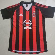 2002/03 AC Milan Home Retro Soccer Jersey