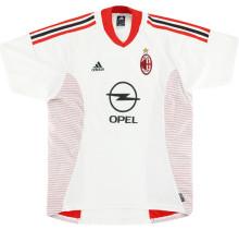 2002/03 AC Milan Away White Retro Soccer Jersey