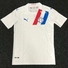 2020/21 Paraguay Away White Fans Soccer Jersey