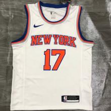 NY Knicks LIN # 17 White NBA Jerseys Hot Pressed