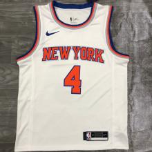 NY Knicks ROSE # 4 White NBA Jerseys Hot Pressed