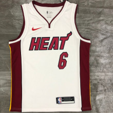 2021 Miami Heat JAMES #6 White NBA Jerseys Hot Pressed