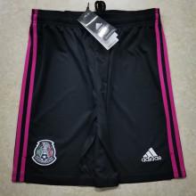 2021 Mexico Home Black Shorts Pants