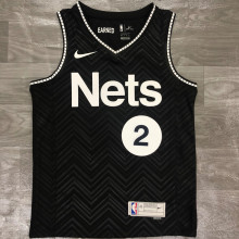 2021 Nets GRIFFIN #2 EARNED Edition Black NBA Jerseys Hot Pressed