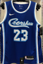 2021 LA Lakers James #23 Blue NBA Jerseys Hot Pressed