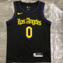 2021 LA Lakers KUZMA #0 Black Latin Black NBA Jerseys Hot Pressed