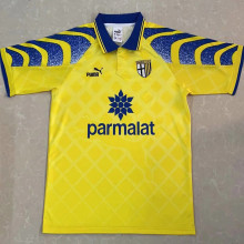 1995/97 Parma Home Yellow Retro Soccer Jersey