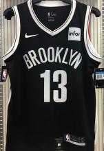Nets Harden #13 Black NBA Jerseys Hot Pressed