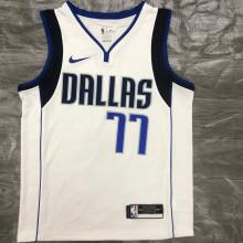 Mavericks Dončić # 77 White NBA Jerseys Hot Pressed