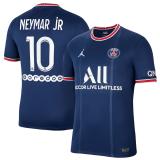 NEYMAR jR #10 PSG Home 1:1 Fans Soccer Jersey 2021/22