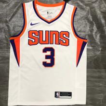 2021 Suns PAUL #3 White NBA Jerseys Hot Pressed