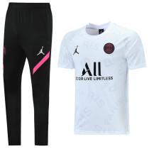 2021/22 PSG JD White Training Tracksuit (LH 长裤套装 背后有广告)