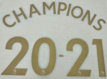 CHAMPIONS 20-21 Premier League Gold Fonts