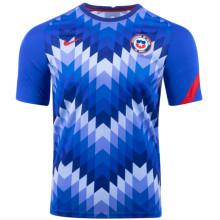 2021 Chile Blue WHite Training Soccer Jersey